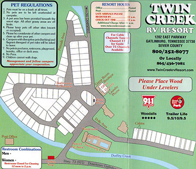 Twin Creek Rv Resort Rv Camping Tennessee Recreational